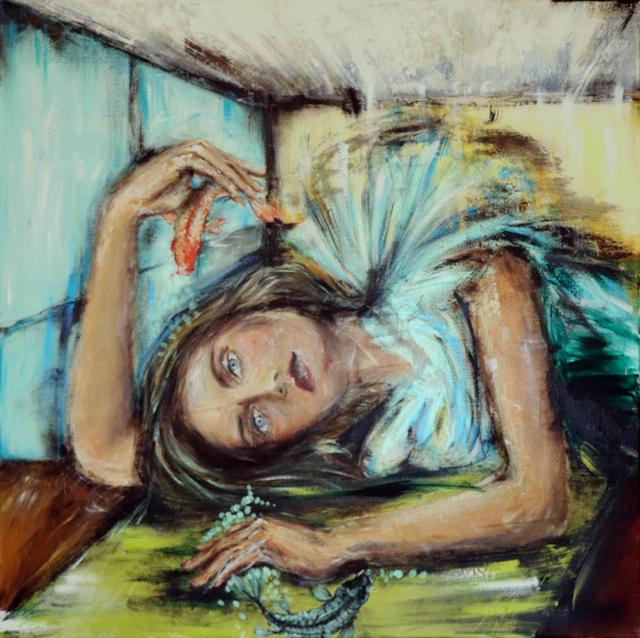 Mujer Yin Mujer Yang - 90x90 - Pintora mexicana