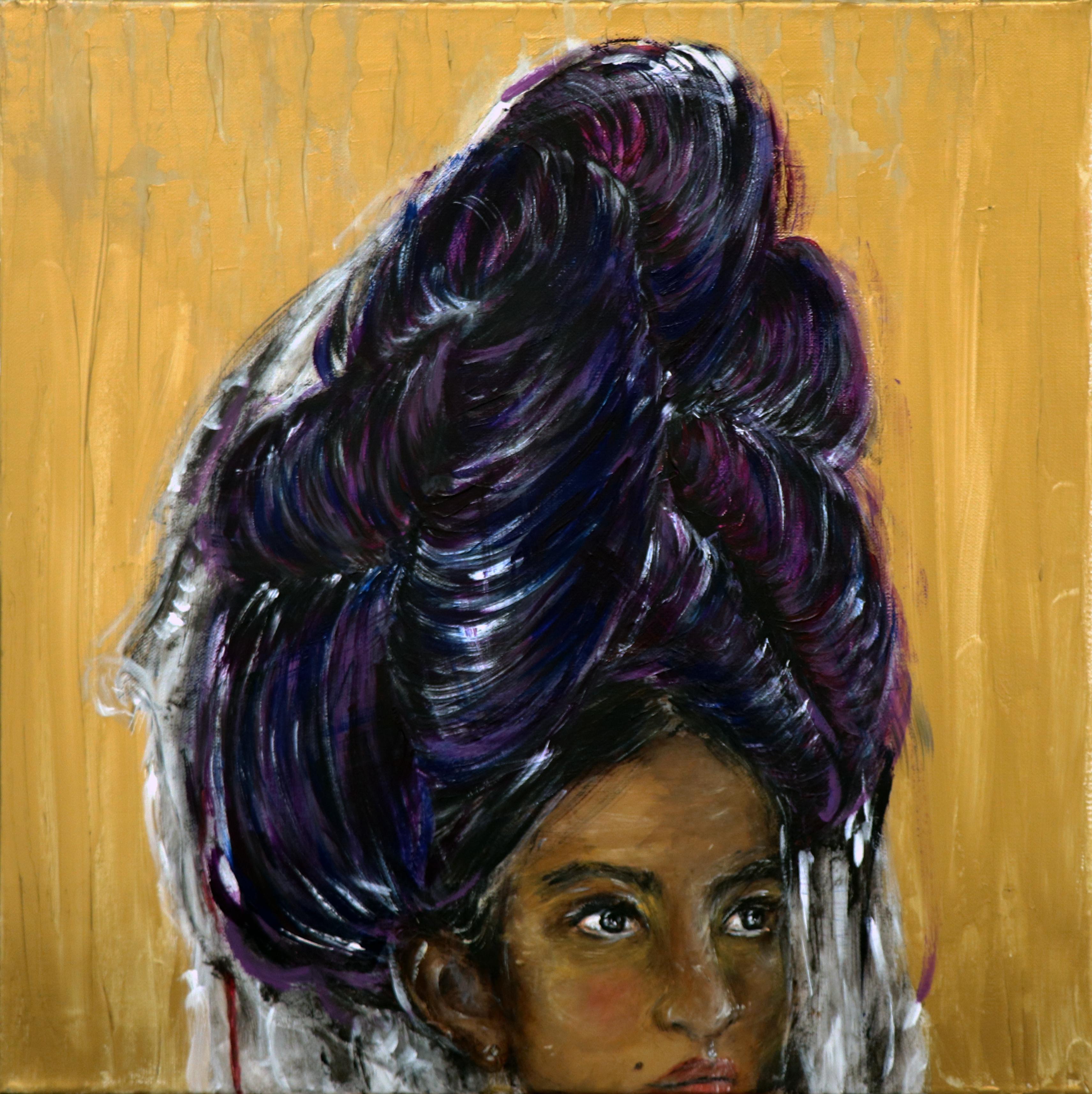 La reine Nahua - 50x50 - Pintora mexicana